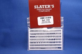 Slaters 3mm High Moulded Letters & Numerals (white)