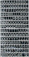 Slaters 8mm High Moulded Letters & Numerals (white)