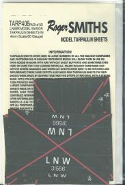 Roger Smith - 4mm L.N.W.R. Wagon Tarpaulin Sheets
