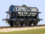 Slaters 7mm Decal - LMS 3000 Gallon 6 Wheel Milk Tank Wagon Express Dairies