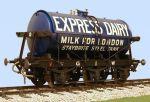 Slaters 7mm Decal - GWR 3000 Gallon Milk Tank Wagon Express Dairies