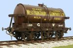 Slaters 7mm Decal - GWR 3000 Gallon Milk Tank Wagon West Park Dairy