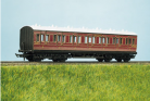 Parkside Models (EX Ratio 711) - LMS (exMR) 48ft Suburban All 1st 7 Compartment Coach