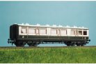 Ratio Plastic Models 732 - LMS (ex LNWR) 50ft Arc Roof Corridor Composite Coach