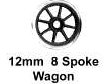 Romford 4mm - 12mm 8 Spoke Plain (price per axle)