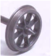 Alan Gibson 7mm - 8 Plain  Spoke Wagon Wheels (price per axle includes bearings)