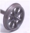 Alan Gibson 7mm - 8 Plain  Spoke Wagon Wheels (price per axle includes bearings)