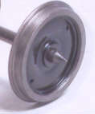Alan Gibson 7mm - Carriage Plain Disc (price per axle includes bearings)