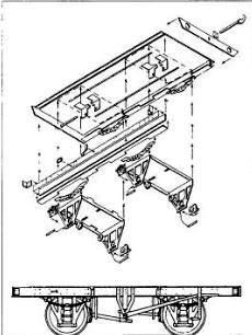 """Alan Gibson 4MM40 - Etched Brass Underframe Kit - 17'6"""" x 9'"""