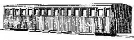 Dundas Models BB02 - N.W.N.G. Railway Bogie Workmans Coach No's 11, 12 & 13