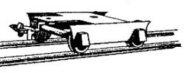 Dundas Models BB03 - N.W.N.G. Railway Coach Bogies (pair)