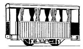Dundas Models - Glyn valley Tramway 4-Wheel 3rd Class Coach