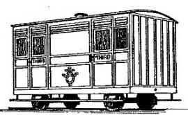 Dundas Models BB05 - Festiniog Railway 4-Wheel Ashbury 3rd Class Coach