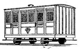 Dundas Models - Festiniog Railway 4-Wheel Ashbury 1st Class Coach