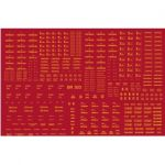 Modelmaster Decal - BR Engineering Dept Wagons, large variety of types (yellow) 1947-1965