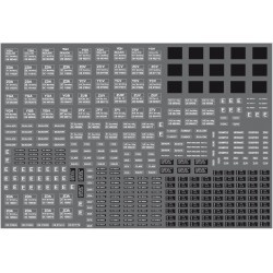 Modelmaster Decals - BR Engineering Dept Wagons, large variety of types (white) 1965-1990