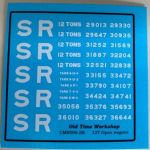 CMR006 (SR) - Old Time Workshop 4mm Decals - SR 12T Wagons