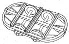 Dundas Models - Hudson wagon chassis (curved ends) pack of 5