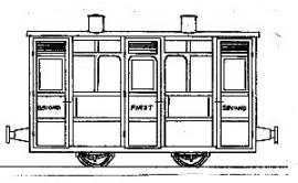 Dundas Models - Festiniog & Blaenau 4-Wheel 1st/2nd Class Coach