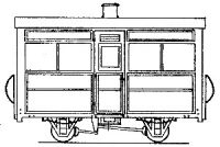 Dundas Models DM28 - Single Compartment 4 Wheel Coach (based on V of R/Glyn Valley)