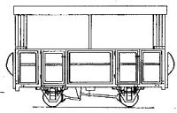 Dundas Models DM34 - Open 2 Compartment 4-Wheel Coach (based on V of R/Glyn Valley)