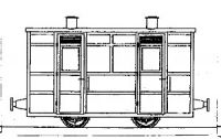 Dundas Models DM67 - Victorian Two Compartment Panelled 4.Wheel Coach