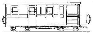 Dundas Models DM69 - Freelance Brake Third Observation Bogie Coach