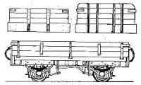 Dundas Models DM77 - Irish N G Open Goods Wagon