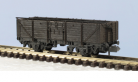 Peco N Gauge Wagon Kit KNR-10 - 15ft Wheelbase Open Wagon, Tarpaulin