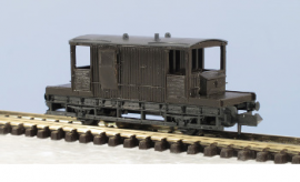 Peco N Gauge Wagon Kit KNR-29 - 15ft Wheelbase SR Goods Brake Van