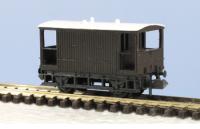 Peco N Gauge Wagon Kit KNR-48 - 10ft Wheelbase Goods Brake Van