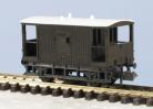 Peco N Gauge Wagon Kit KNR-49 - 10ft Wheelbase Goods Brake Van