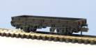 Peco N Gauge Wagon Kit KNR-5 - 15ft Wheelbase Open Wagon, Plate