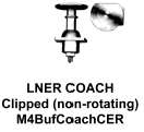 Markits LNER Coach Buffer (Clipped) (pack of 4) 4mm