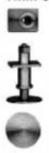 Coach Buffer Plain (9.5mm Dia) 10ba thread (S/Steel) Square Base