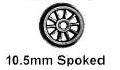 Romford 4mm - 10.5mm 10 Spoke Tender (price per axle)