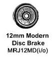 Romford 4mm - 12m Disc Brake Wheels (price per axle)