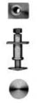 Markits 7mm - Wagon Buffer Plain, 7.4mm Square Base
