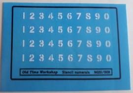 Old Time Workshop 009 Decals - Stencil Numbers suitable for L&LSR, L&BER, Freelance etc.