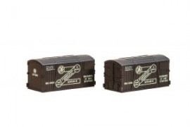 Peco N Gauge Containers NR-213 - GWR Furniture removals (pack of 2)