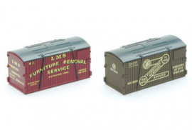 Peco N Gauge Containers NR-207 - GWR & LMS Removals