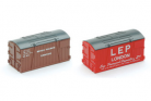 Peco N Gauge Containers NR-208 - BR & LEP Removals