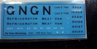 Old Time workshop 7mm Decals - GN Refrigerated Vans Large Initials 1898-1923