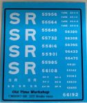 CMR007 (SR) - Old Time Workshop 4mm Decals - SR 25T Brake Vans