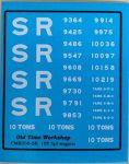 CMR050 (SR) - Old Time Workshop 4mm Decals - SR 10T 5-Plank Wagons