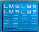 CMR057 (LMS) - Old Time Workshop 4mm Decals - LMS 12T 5-Plank Wagons