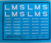CMR058 (LMS) - Old  Time Workshop 4mm Decals - LMS 12T 5-Plank Open Wagons
