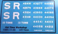 CMR115 (SR) - Old Time Workshop 4mm Decals - ex-LSWR 10T Vans, SR Livery
