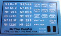 CMR115 (S&D) - Old Time Workshop 4mm Decals - S&D 10T Road Vans