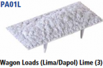 Parkside Models PA01(Lime) - Wagon Loads (Lima, Dapol etc.) - Pack of Three Same Type :- Limestone